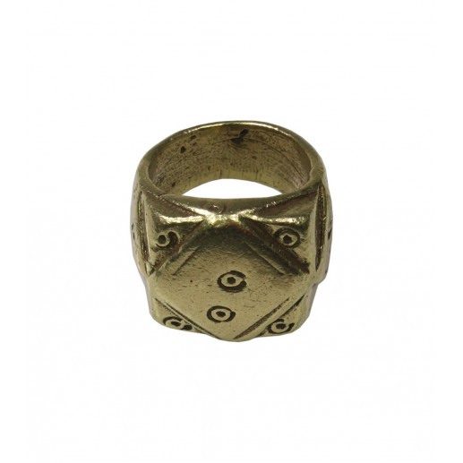 """Sparrow"" bronze finish gypset ring"
