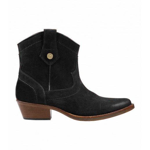 black suede leather cowboy boots