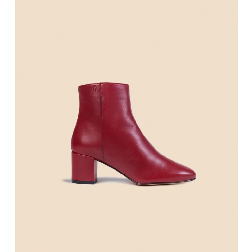 IRENE boots in leather burgundy