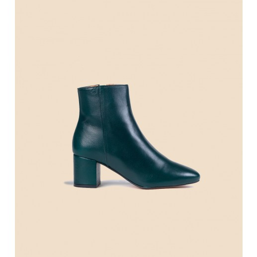 IRENE boots in leather green