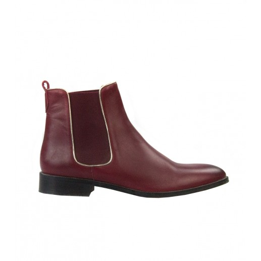 Bottines Leo rouge