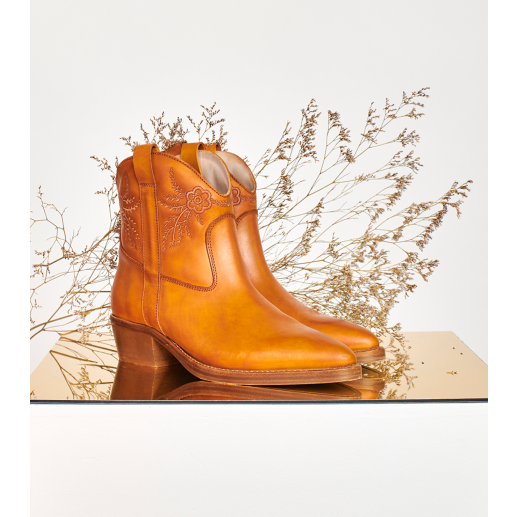 Bottines FLORA BRODEE camel