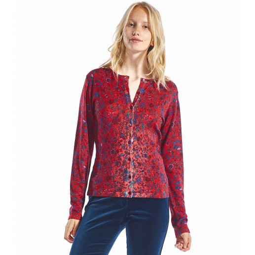 Cardigan Liberty rouge
