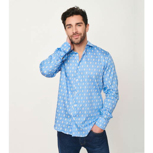 """Biot"" azure slim fit shirt"