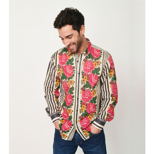 "Men's classic ""Chantal"" print shirt"