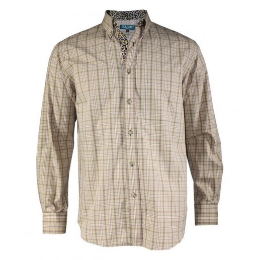 "Men's woven check ""Oued"" shirt"