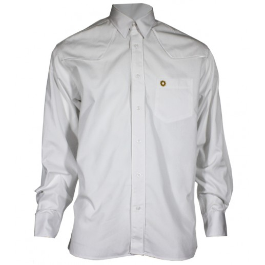 "Men's regular fit white poplin ""Texane"" shirt"