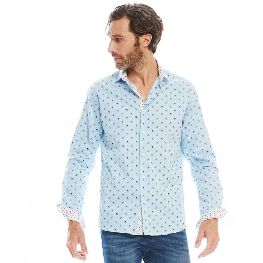 fan-fan mens slim fit shirt