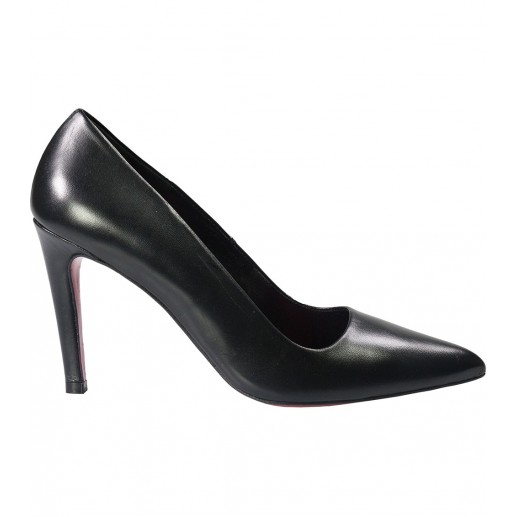 Betty black court shoes 8 cm