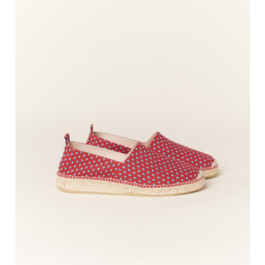 MINI MOUCHE espadrilles men's rope and cotton red