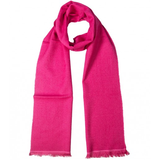 Fuchsia pink cashmere and silk long scarf