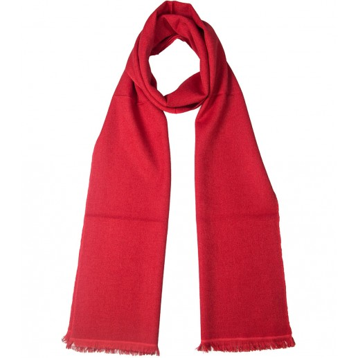 Red cashmere and silk long scarf