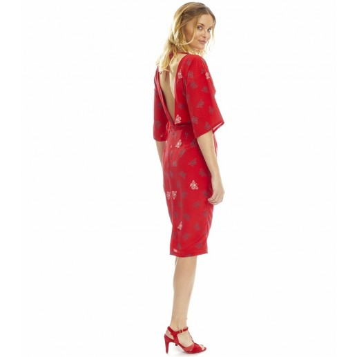 """Robe Caterina """"Papillons"""" rouge"""