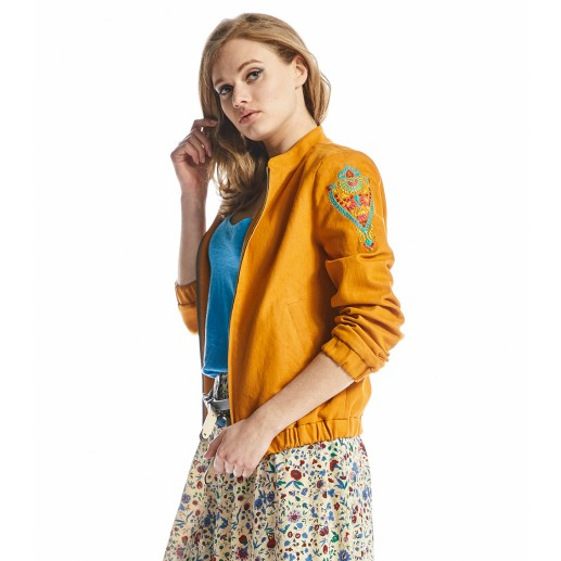 Bombero jacket in apricot denim