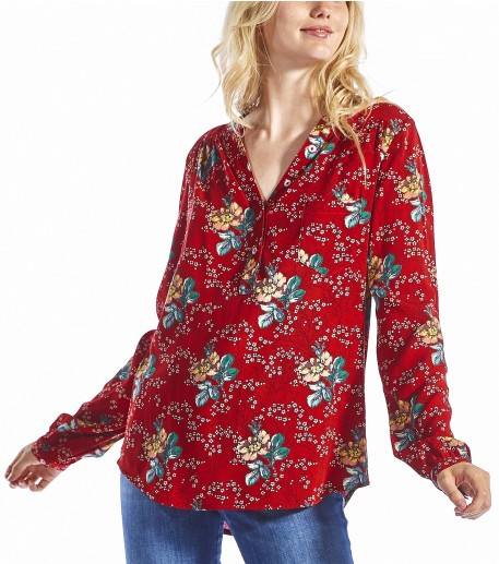 Blouse Hugo Amandier rouge