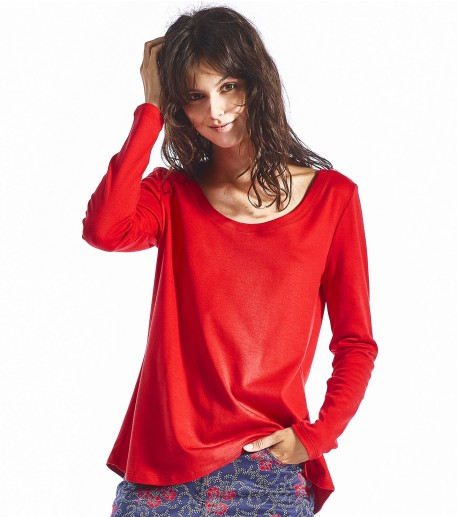T-shirt Nola rouge uni