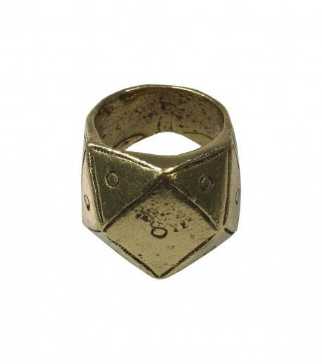 """Pyramid"" bronze finish gypset ring"