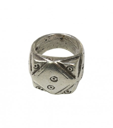 """Sparrow"" silver finish gypset ring"