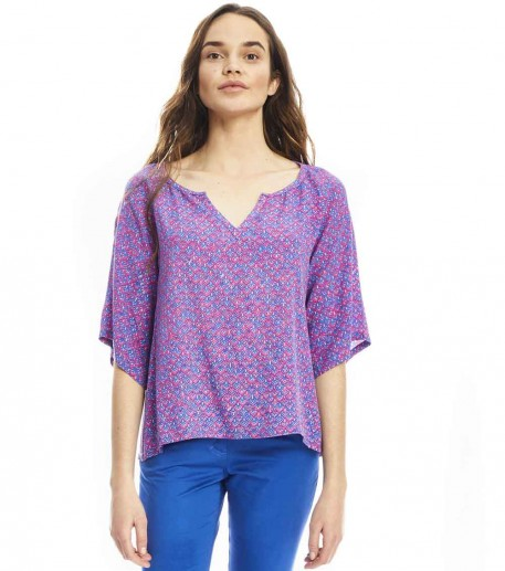 Gineta Liberty print silk top