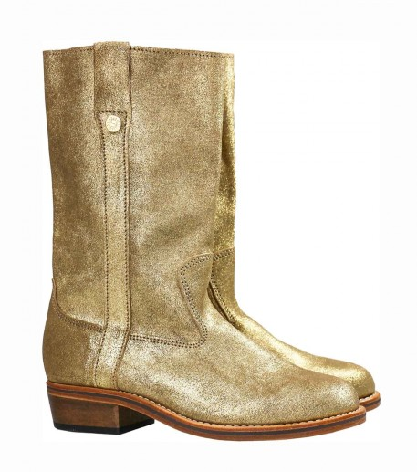 Gold leather Gardian boots