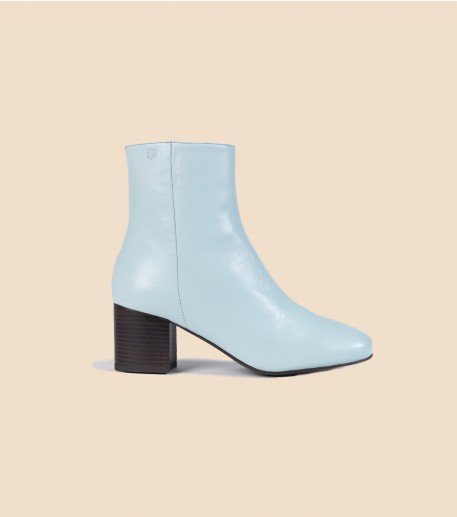 PERLA boots in leather blue