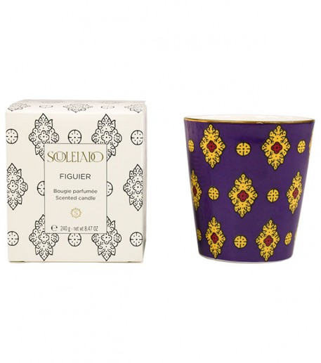 "Fig tree scented candle, purple ""Merveille"" design"