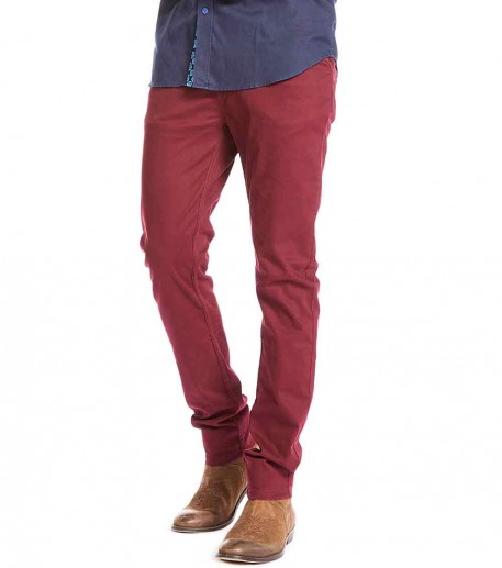 "Men's burgundy ""YZA"" trousers"