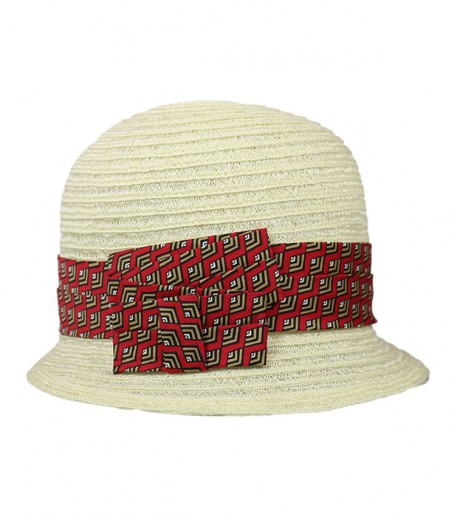 """Africa one"" straw cloche hat"