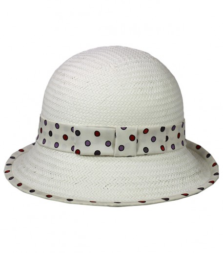 """Confetti"" white straw cloche hat"