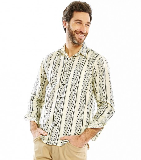 "Men's straight fit ""Cocarde"" shirt"