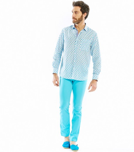 Salin men's turquoise trousers