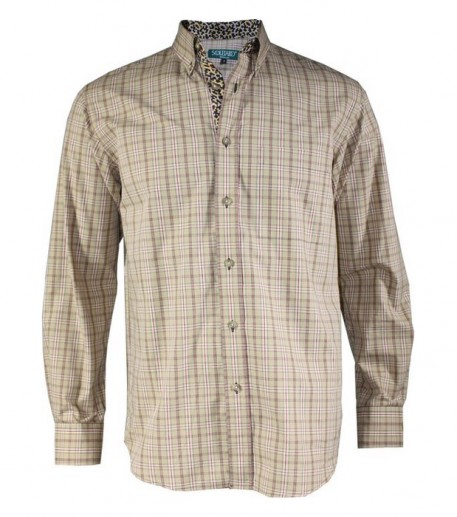 """Men's woven check """"Oued"""" shirt"""