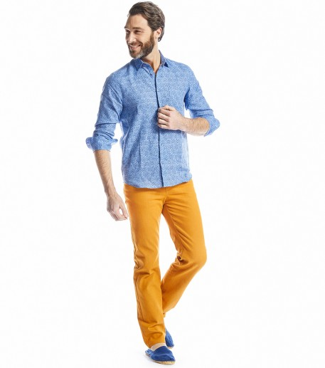 Iza orange denim trousers