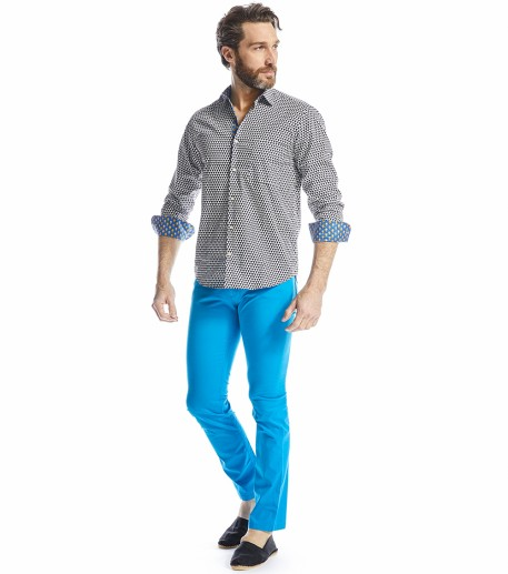 Riziere men's turquoise blue trousers