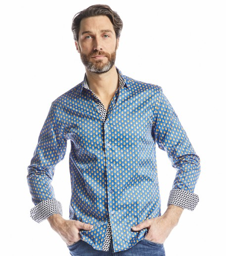 Talia men's dark blue slim fit shirt