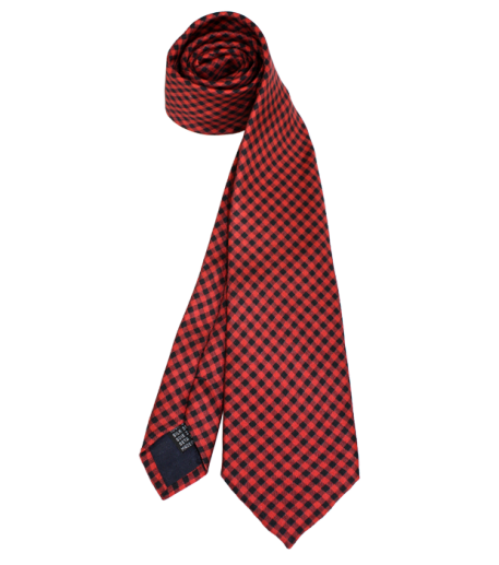 """Le Marquis"" red silk tie"