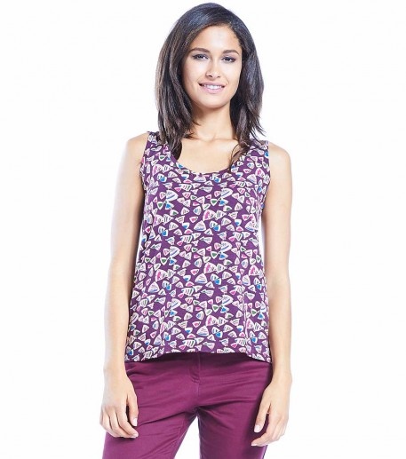 "Alicia plum ""Butterfly"" top"