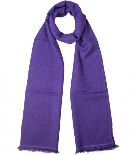 Purple cashmere and silk long scarf