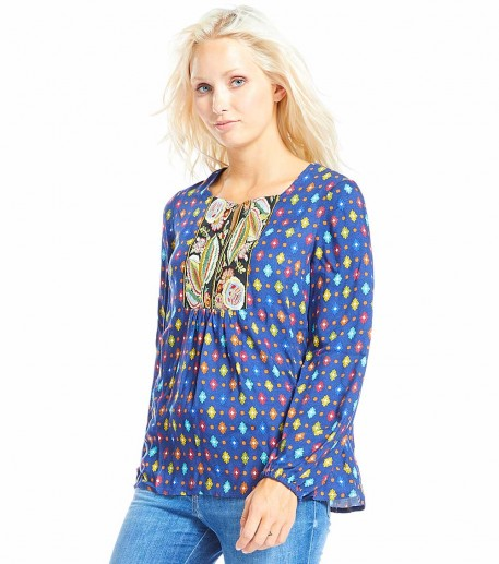 "Frida blouse blue multicolour ""Marvel"""
