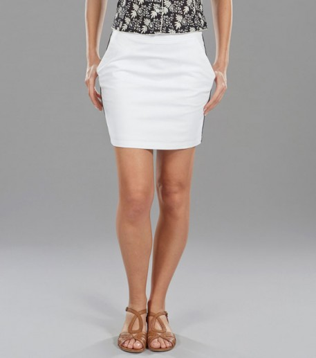 BAMBOU white mini-skirt