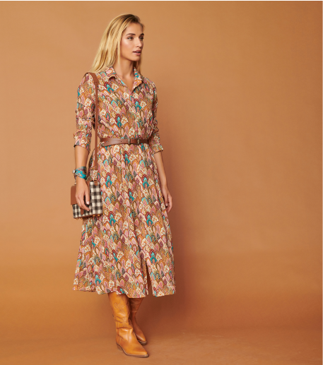Robe KELLY Plume ocre