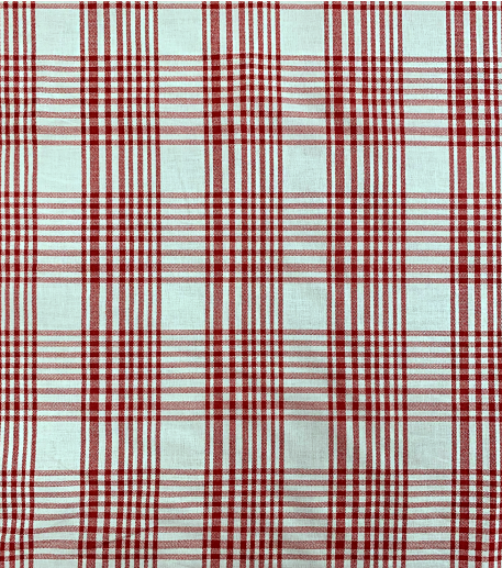 LANGUEDOC red & ecru cotton fabric