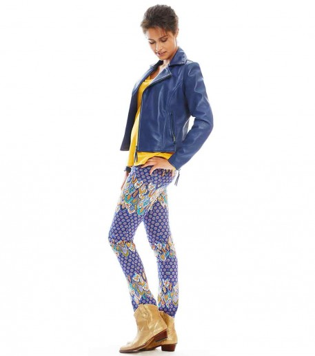 """neo navy """"voyage"""" print  trousers"""