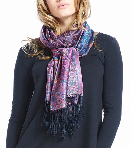"""Occitani""e long Pashmina scarf"