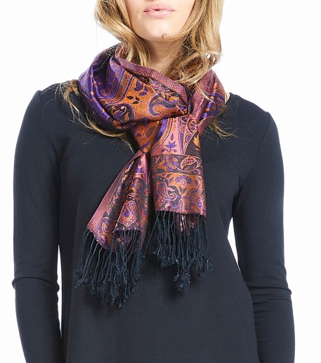 """Singapore"" long Pashmina scarf"
