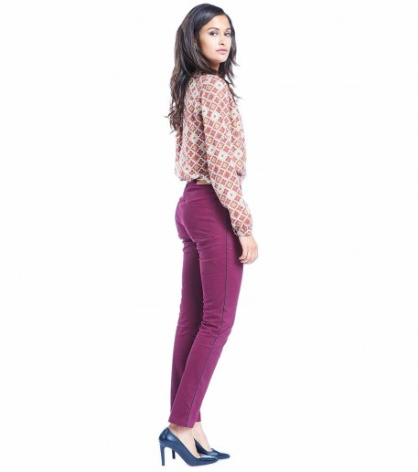 Laetitia burgundy trousers