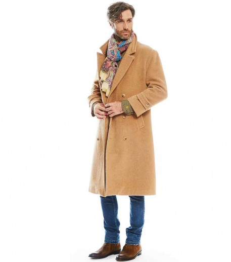 bourrasque mens beige baby alpaca coat