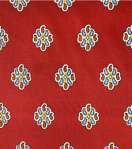 OSTROGO red cotton fabric