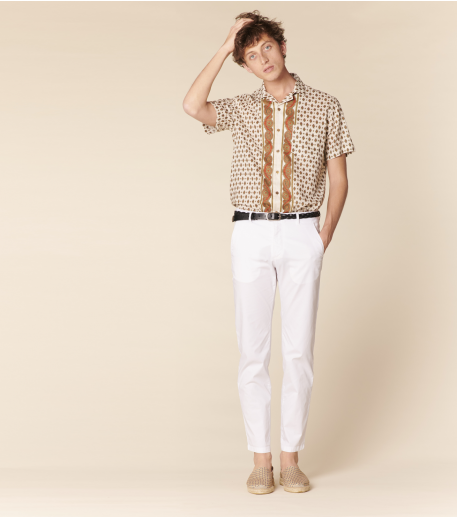 RASETEUR pants plain white