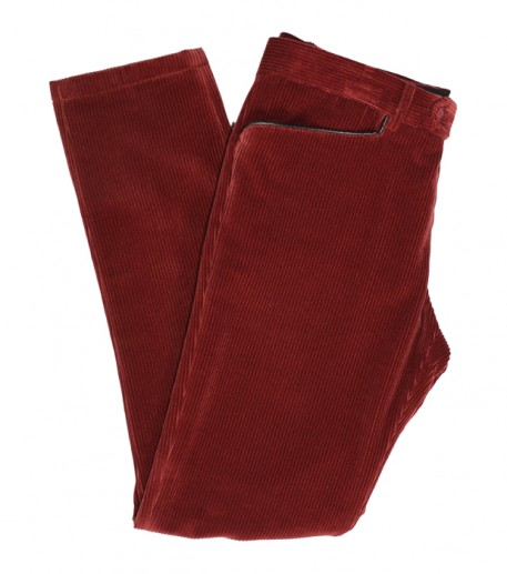 "Men's rust velvet ""Vincent"" trousers"
